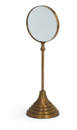 Brass Magnifier on Stand