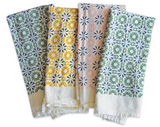Block Print Flour Sack Napkins, Set/4