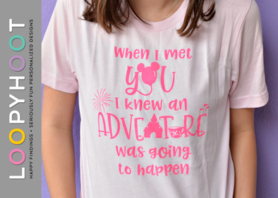 Adventure Icons Shirt in Pink