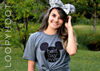 Best Day Ever Mouse Ears Shirt in Navy, Red or Heather Gray w/ GLITTER