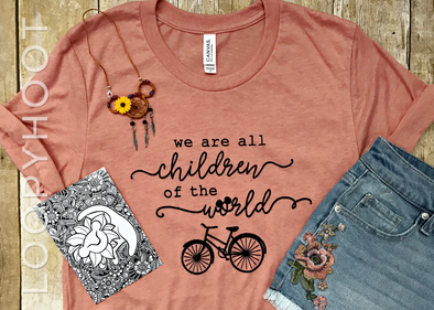 Children of the World Shirt in Heather Sunset