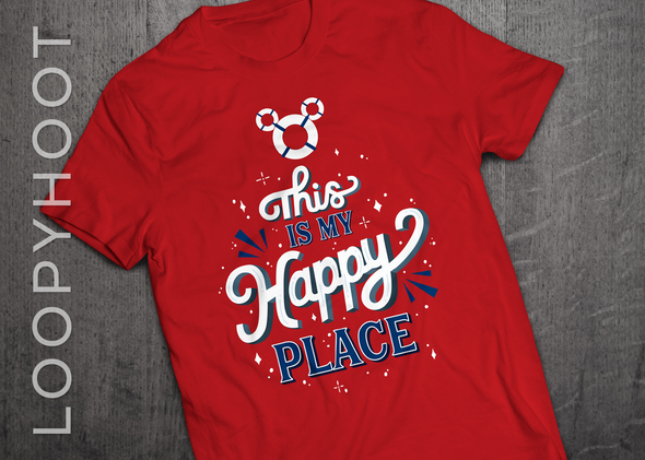 Happy Place Cruise Shirt in RED