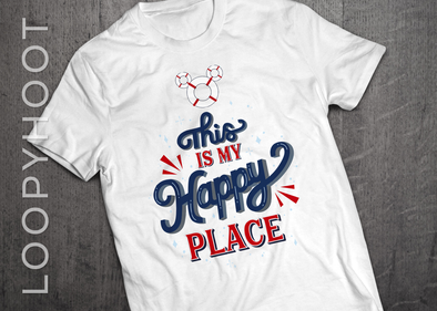 Happy Place Cruise Shirt in WHITE