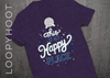 Happy Place Epcot Shirt in PURPLE TRIBLEND