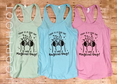 Magical Day Shirt or Tank in Mint, Cancun Blue or Lilac