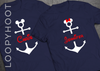 Personalized Mouse Anchor Shirt in Navy