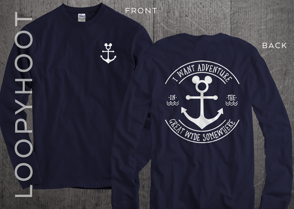 Great Wide Somewhere Mouse Anchor Cruise Shirt in Navy