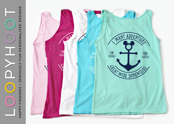 Great Wide Somewhere Mouse Anchor Cruise Tank Top