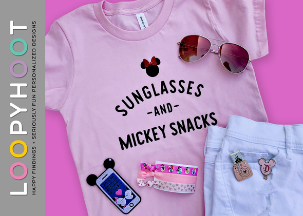 Sunglasses and Snacks Shirt in Pink