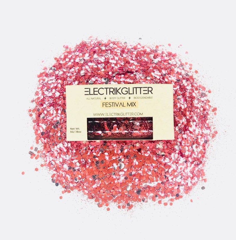 Rosè Body And Face Glitter - Electrik Glitter