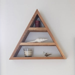 Triangle Reclaimed Timber Display Shelf - Wholesome Habitat