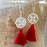 Angel Clear Tassel Drop Earrings - Wholesome Habitat