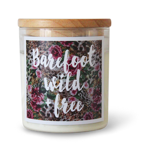 Barefoot, Wild & Free - Natural Pure Soy Wax Candle - Wholesome Habitat