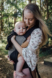 Black Ink Snap Baby Carrier - Wholesome Habitat