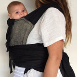 Black Ink Wrap Baby Carrier - Wholesome Habitat