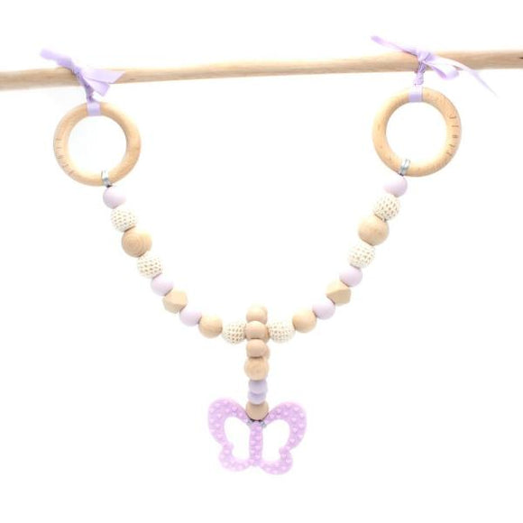 Butterfly Teething Pram Garland Toy - 3 colours - Wholesome Habitat