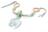Elephant Teething Pram Garland Toy - 3 colours - Wholesome Habitat
