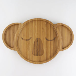 Children's Bamboo Koala Plate - Wholesome Habitat
