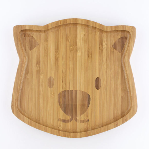 Children's Bamboo Wombat Plate - Wholesome Habitat