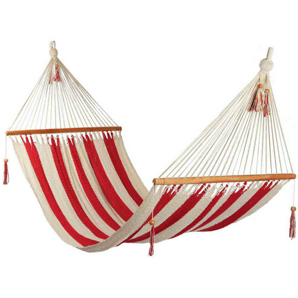 Hammock in Striped Red & White - Wholesome Habitat