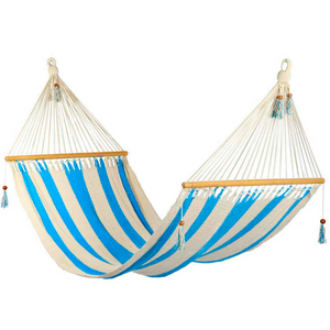Hammock in Striped Turquoise & White - Wholesome Habitat