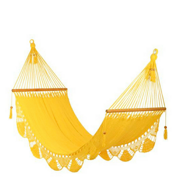 Crochet Hammock in Yellow - Wholesome Habitat