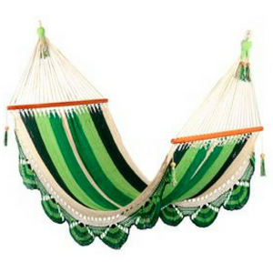 Crochet Hammock in Mixed Green - Wholesome Habitat