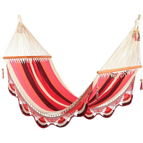 Crochet Hammock in Mixed Red - Wholesome Habitat
