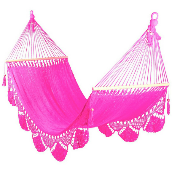Crochet Hammock in Pink - Wholesome Habitat