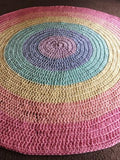 Crochet Floor Rug Rainbow Colours - Wholesome Habitat