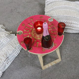 Eucalyptus Flower Pink Picnic Table - Wholesome Habitat