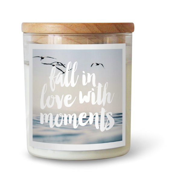 Fall In Love With Moments - Natural Pure Soy Wax Candle - Wholesome Habitat