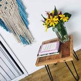 Reclaimed Oregon Timber Side Table w/ hairpins