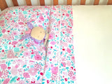 Organic Cotton Cot/Crib Sheet Sets - Fairy Garden Floral - Wholesome Habitat