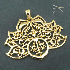 Gold Lotus Pendant - Wholesome Habitat