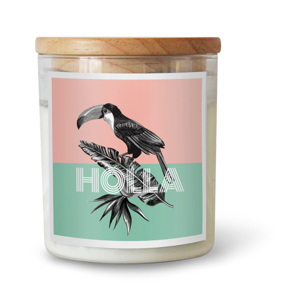 Holla - Natural Pure Soy Wax Candle - Wholesome Habitat
