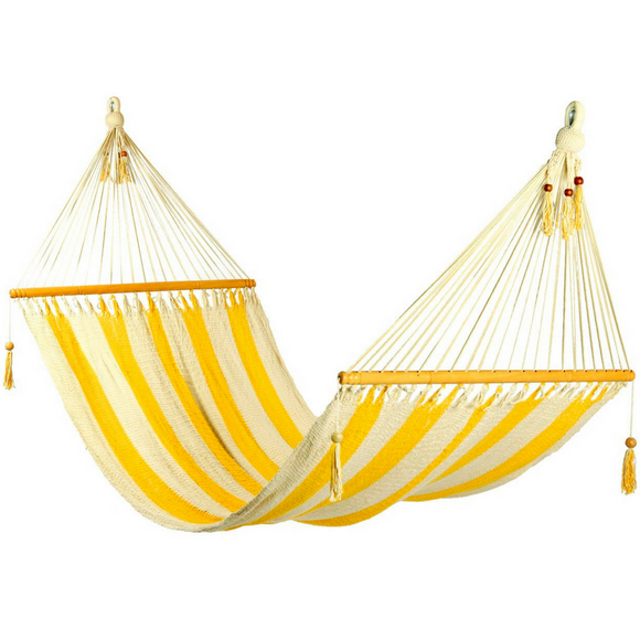 Hammock in Striped Yellow & White - Wholesome Habitat