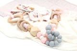 Interlock Teething Pram Garland Toy - 3 colours - Wholesome Habitat