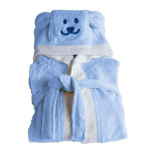 Kids Organic Bamboo Bath Robe - Blue - Wholesome Habitat
