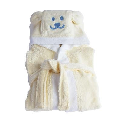 Kids Organic Bamboo Bath Robe - Yellow - Wholesome Habitat