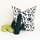 Knitted Cactus Cushion - Green (Small) - Wholesome Habitat