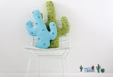 Knitted Cactus Cushion - Mint (Small) - Wholesome Habitat