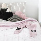 Knitted Cloud Cushion - Pink (Medium) - Wholesome Habitat