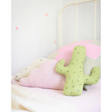Knitted Cloud Cushion - Pink Striped (Large) - Wholesome Habitat