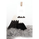Knitted Mountain Cushion - Black (Small) - Wholesome Habitat