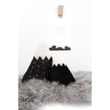 Knitted Mountain Cushion - Grey (Medium) - Wholesome Habitat