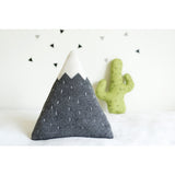 Knitted Mountain Cushion - Light Grey (Large) - Wholesome Habitat