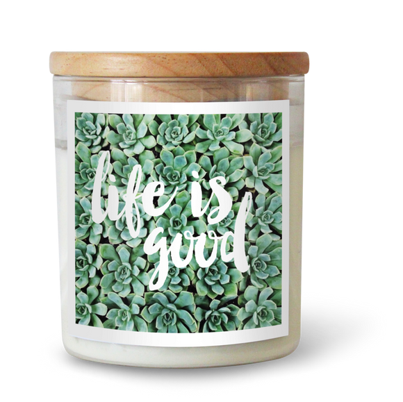 Life Is Good - Natural Pure Soy Wax Candle - Wholesome Habitat