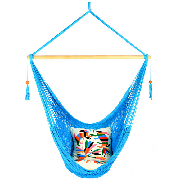 Large Hammock Chair in Turquoise - Wholesome Habitat