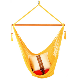 Large Hammock Chair in Yellow - Wholesome Habitat
